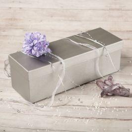 Dárková krabice Linda, stříbrný natur na alkohol a víno
