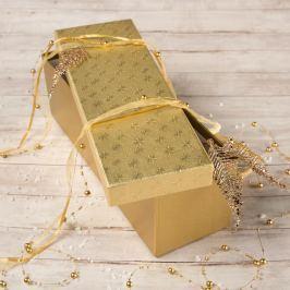 Dárková krabice Linda, zlaté vločky