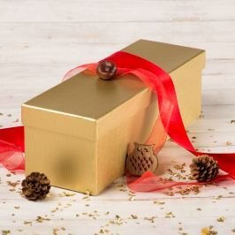 Dárková krabice Linda, zlatý natur