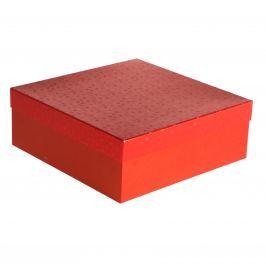 Dárková krabice Marta, červené komety velikosti krabice Marta: 1 - 33x33x12 cm