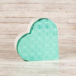 Dárková krabice Lina, mátově zelená, vzor károvaný velikosti krabice Lina: 2 - 10,3x9,5x4 cm