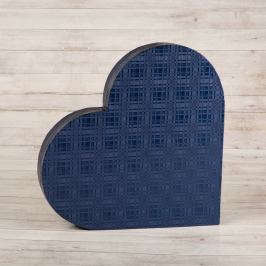 Dárková krabice Lenka, modrá , vzor károvaný velikosti krabice Lenka: 1 - 38x34x5,8 cm