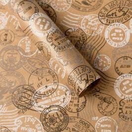 Balicí papír, natur, potisk razítka balicí papíry