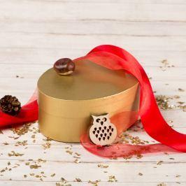 Dárková krabice Barbora, zlatý natur