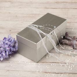 Dárková krabice Jana, stříbrný natur obdélníkové