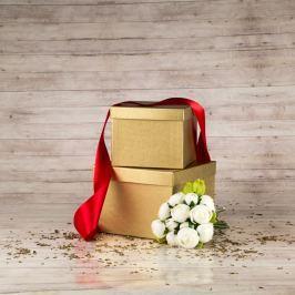 Dárková krabice Zina, zlatá natur