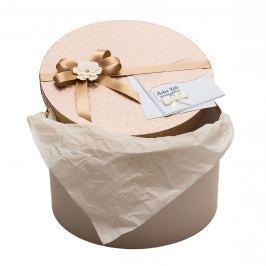 Zdobená krabice na zabalení svatebního daru - krémová