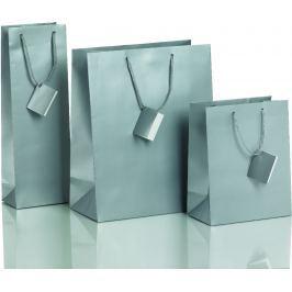 Dárková taška stříbrná Vyberte si druh tašky: taška střední - 18 x 10 x 22,7 cm