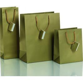 Dárková taška zlatá Vyberte si druh tašky: taška střední - 18 x 10 x 22,7 cm