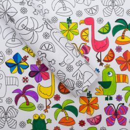 KIT PLAY vybarvovací balicí papír - tropicana