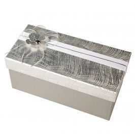 Zdobená krabice na zabalení dárku - stříbrná