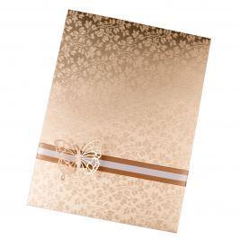 Zdobené dárkové obálky na poukazy A4 Vyberte si barvu a dekoraci: krémová s motýlkem