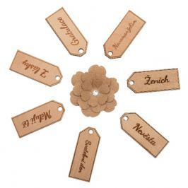 Svatební dřevěné jmenovky Svatební jmenovky: Novomanželům