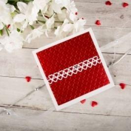 Valentýnské přání se srdíčky