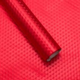 Luxusní strukturovaný balicí papír, červený, vzor obrazce