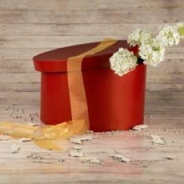 Dárková krabice Lucie 3, červená - 34x20cm