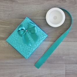 Mašle na dárek - čtyřoká Vyberte si velikost mašle: L - 12 cm, Vyberte si barvu mašle: tyrkysová