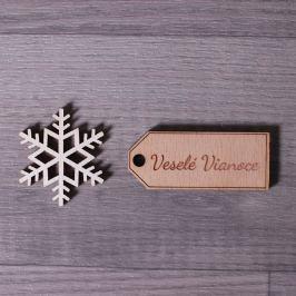 Dřevěná jmenovka na dárek - Veselé Vánoce Vyberte si jmenovku: česká - Veselé Vánoce