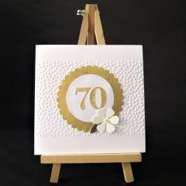 Přání s číslicí 70, zlaté