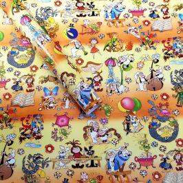 Balící papír dětský, pohádkové postavy